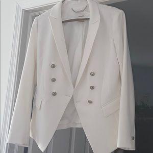 White House Black Market White Blazer Size 6